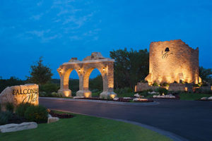 Commercial outdoor sign lighting Austin Texas