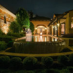 Residential outdoor pond lighting