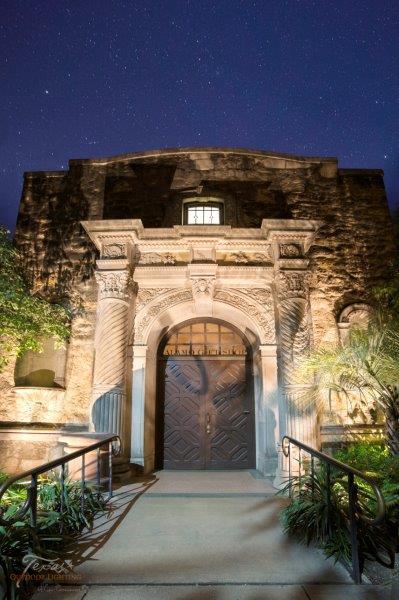 Historic Lighting The Alamo San Antonio Texas Outdoor Lighting