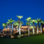 Yacht Club outdoor lighting at Horseshoe Bay Resort in Horseshoe Bay Texas