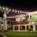 Yacht Club outdoor lighting and bistro cafe lighting at Horseshoe Bay Resort in Horseshoe Bay Texas