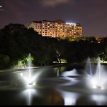 Lake lighting Renaissance Austin Hotel