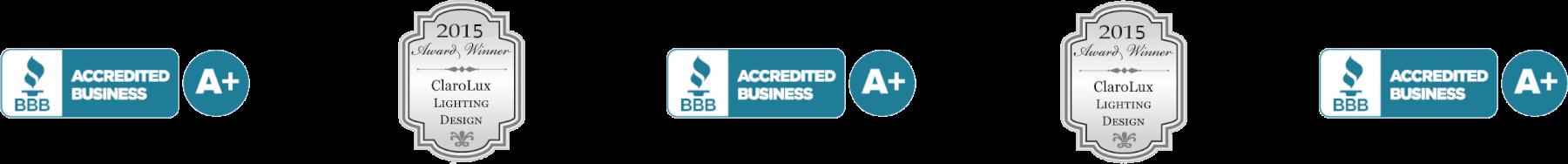 BBB Accredited - Clarolux Lighting Design Award